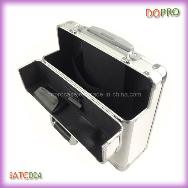 Silver Pilot Case High Quality Diplomat Aluminum Trolley Case (SATC004)
