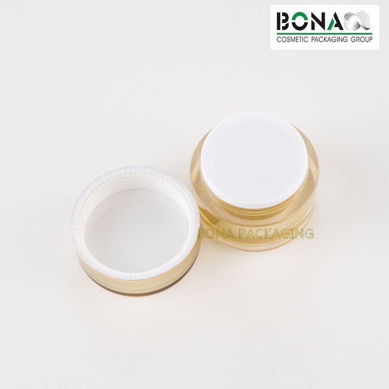 High Quality 5g Small Jar Golden Acrylic Jar