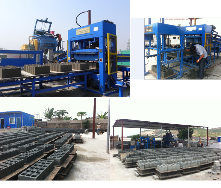 Cement Block Making Machine Brick Making Machine Block Mould Machine (QT5-15A)
