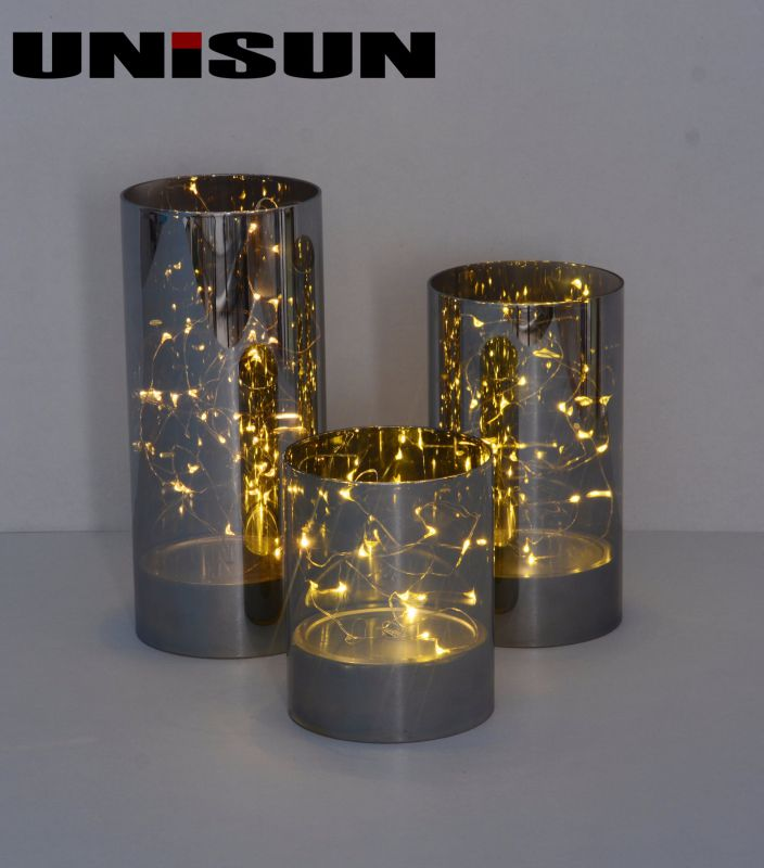 Furniture Decoration Light Glass Craft with Copper String LED Lighting (9101)