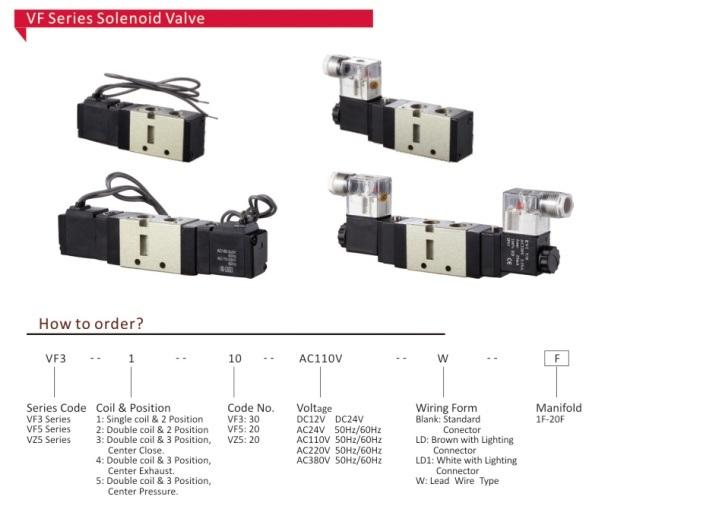 Vf Series Pneumatic Solenoid Valve