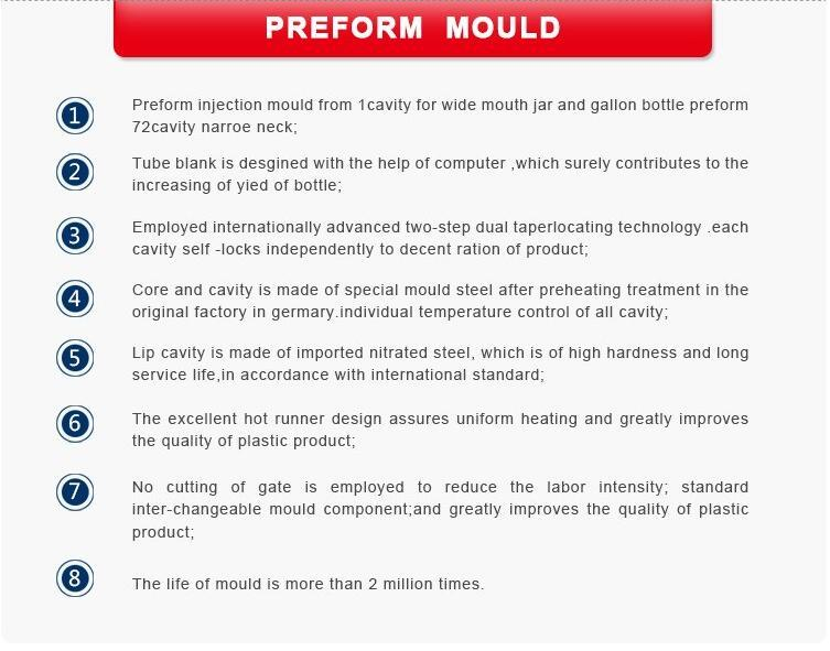 72 Cavity Preform Mold for 30/25 Neck Preform (PET Preform mould)