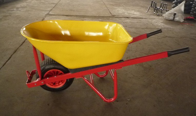 Big Wheel, Metal Big Tray, Heavy Duty, Single Wheel Barrow