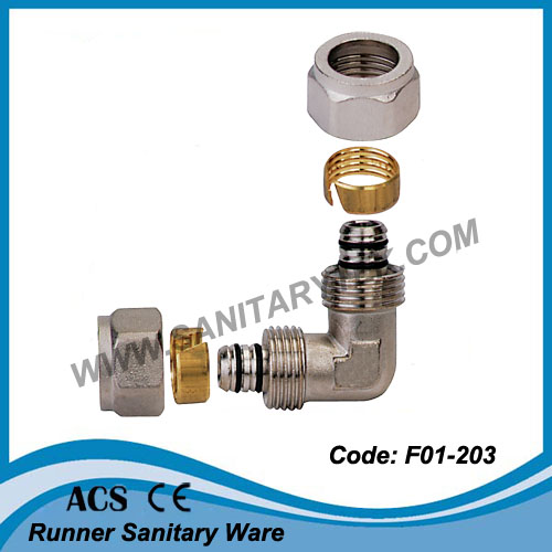 Brass Manifold with Connections for Multilayer Pex/Al/Pex Pipes (f01-743)