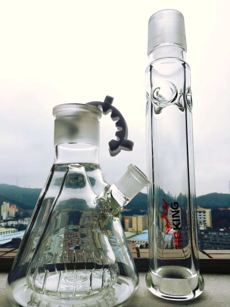 18inch Height Detachable Glass Beaker Double Inner Glass Water Pipe Straight Oil Rigs Smoking Water Pipe