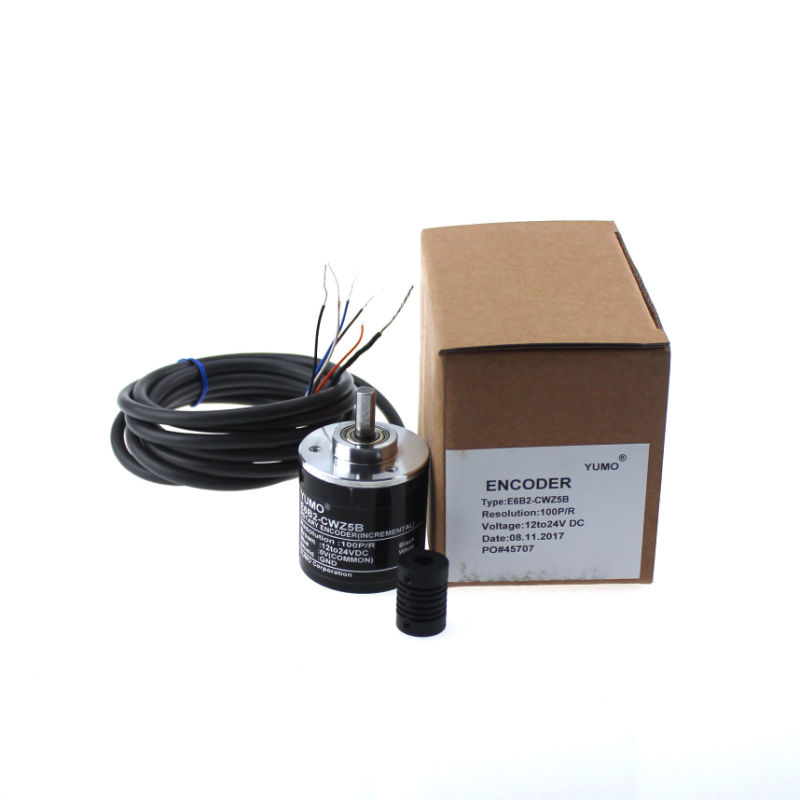 Yumo E6B2-CWZ5B 100PPR 12V 24V DC Shaft Incremental Rotary Encoder