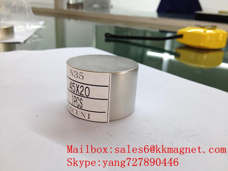 neodymium magnet permanent magnet N35 N42 D45X20mm