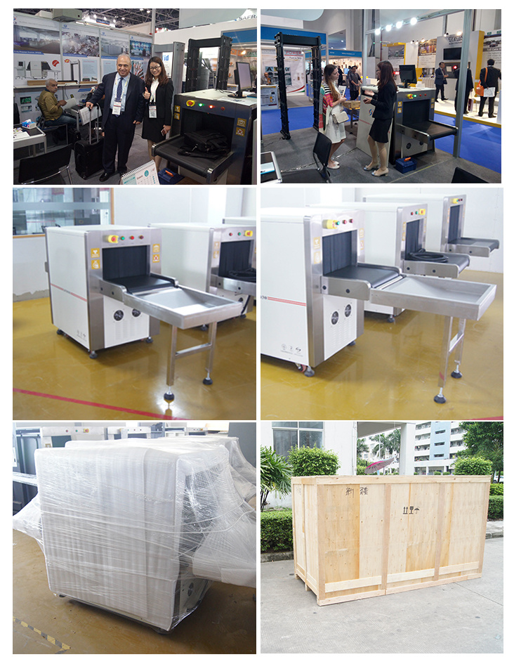 Small Size X-ray Baggage Scanner Single Energy Small Parcel -Ray Metal Detector Conveyor for Hotel, Bank