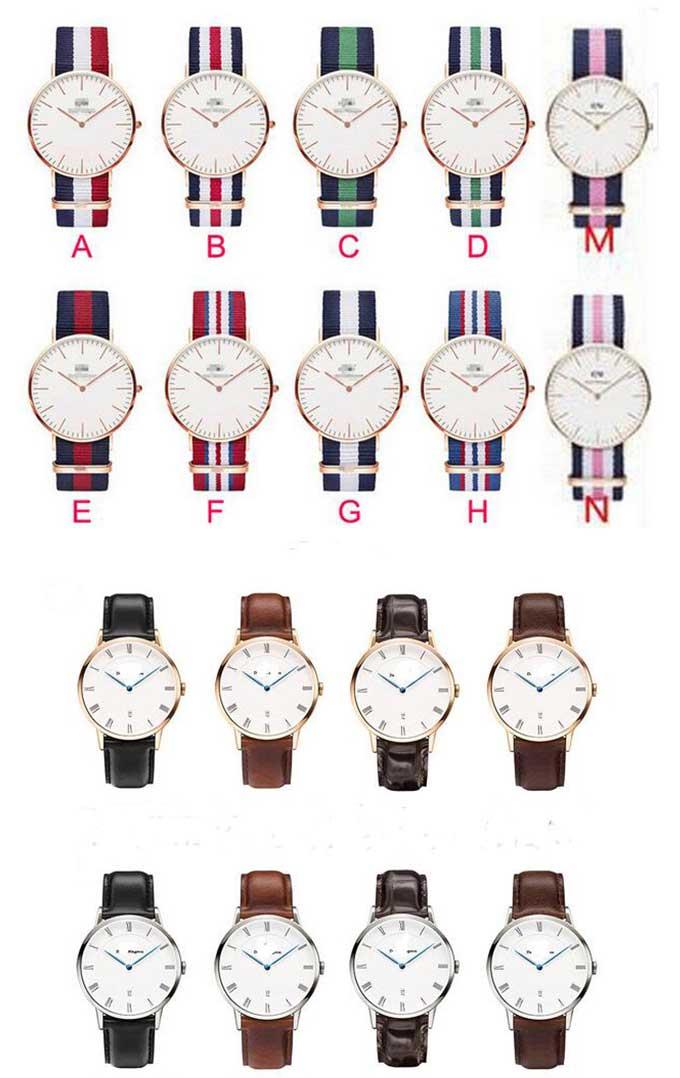 Yxl-621 Fashion Couple Watches Stainless Steel Case Nylon Nato Band Chronograph Quartz Watch