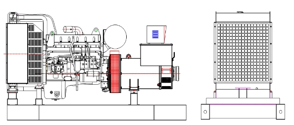 23kVA-1500kVA Cummins Engine Silent Diesel Generator
