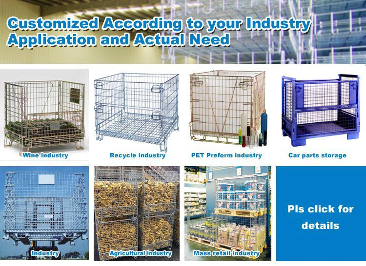 Hot Sale Metal Steel Wire Mesh Baskets for Warehouse Storage