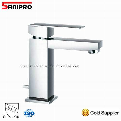 Sanipro Chrome Finish Wash Basin Faucet Single Handle Mixer Tap