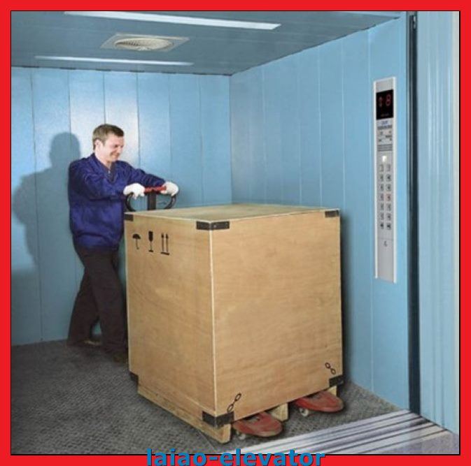 Bouble Entrance Cargo Elevator Lift with Iron Sheet-Standard Controller Box