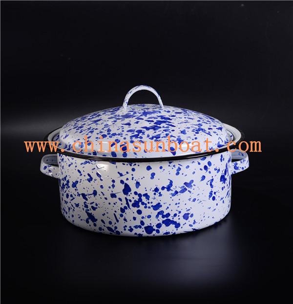 Sunboat Gas Induction Cooker/ Enamel Soup Pots/Enamel Stock Pot