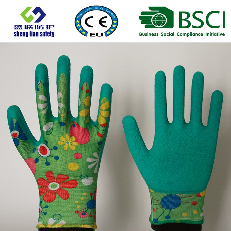 Latex Foam Coated Garden Safety Work Gloves