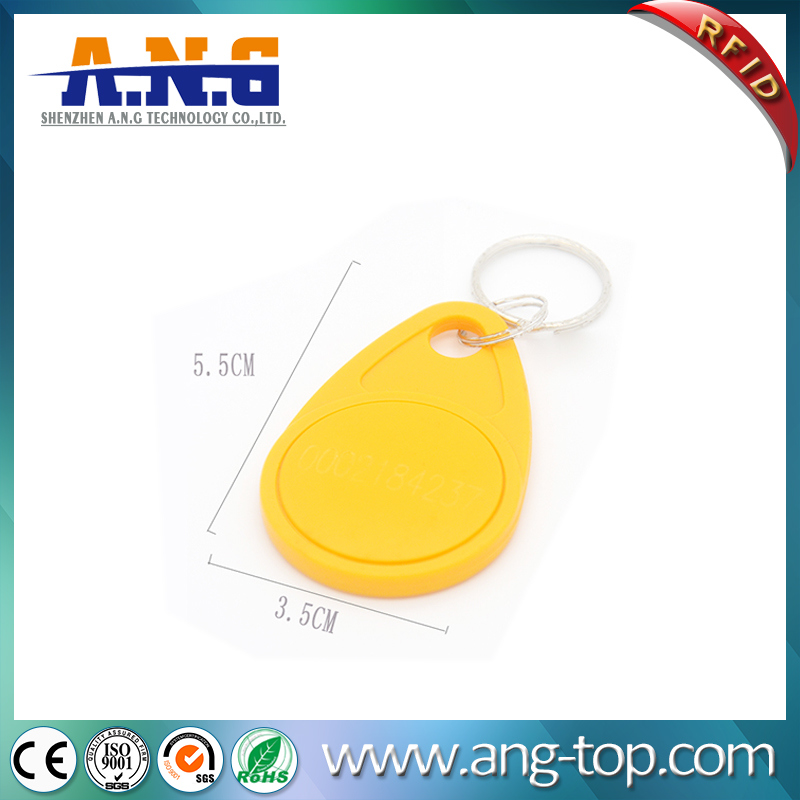 13.56MHz Hf ABS Customized 1K RFID Keychain