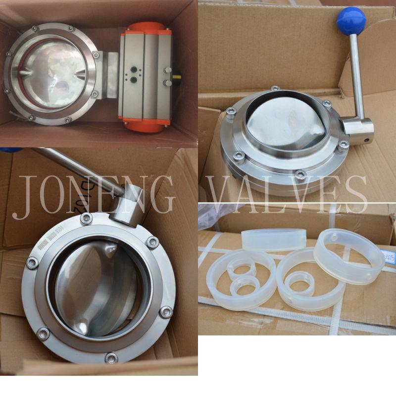 Stainless Steel Manual Sanitary Butterfly Valve (JN-BV1002)