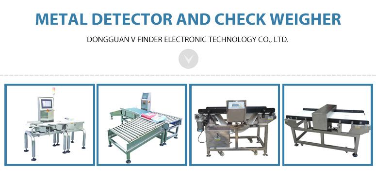 Food Processing Industry Metal Detector with Chain Conveyor Belt
