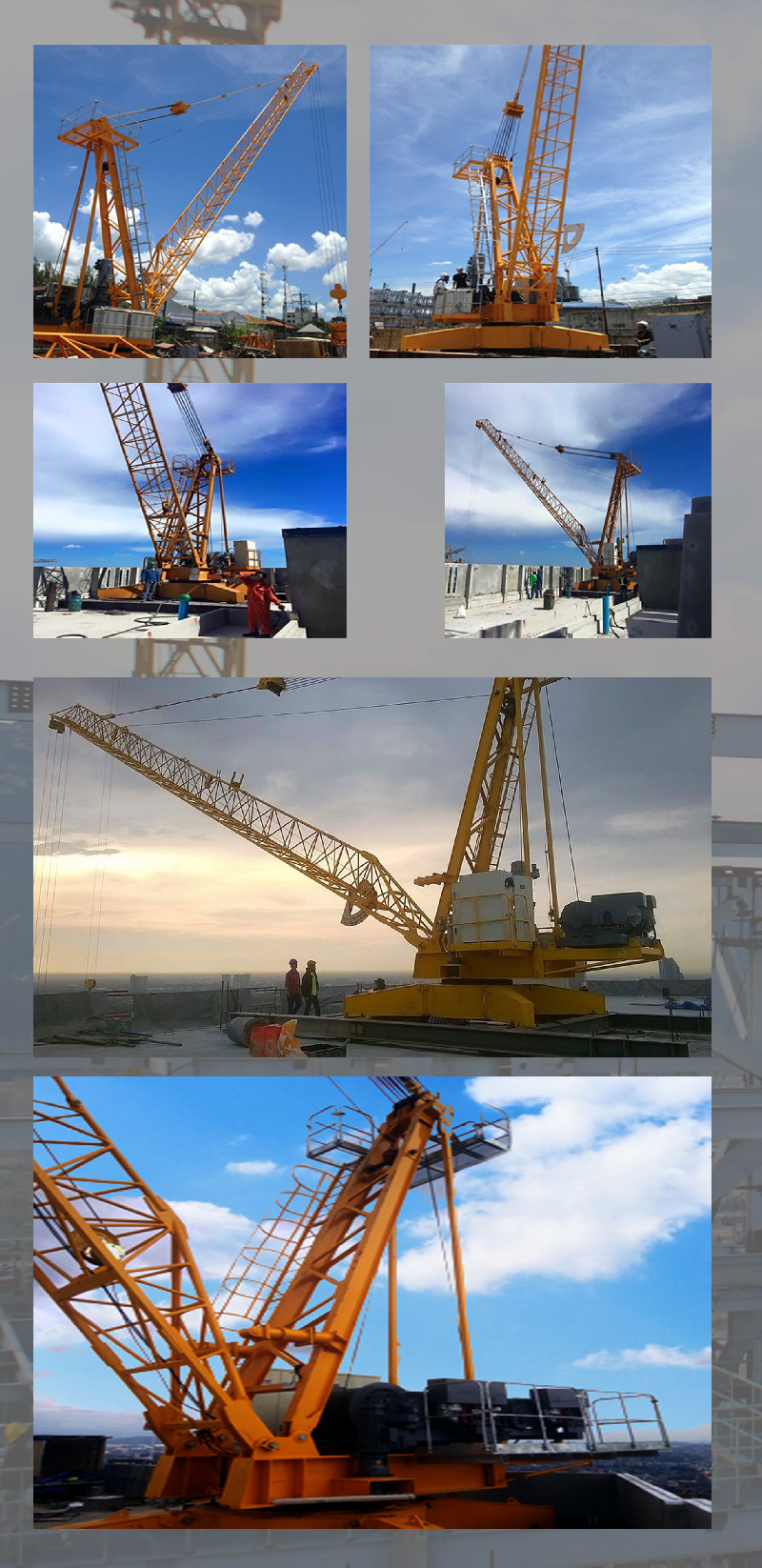 Self-supporting Tower Crane