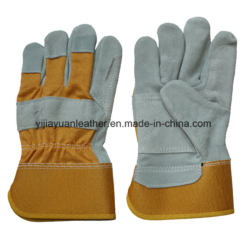 Cowhide Split Leather Work Gloves for Workers