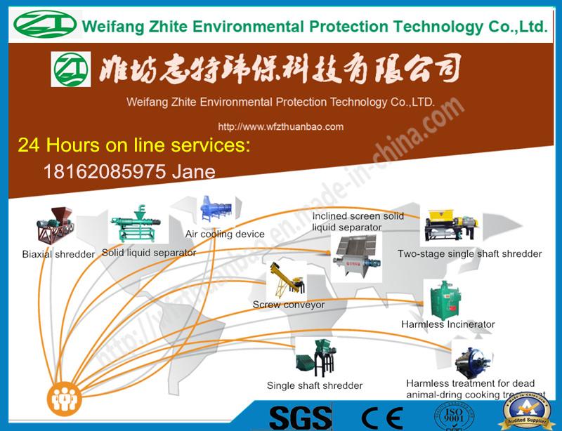 Incinerator for Living Garbage/Medical Waste/Solid Waste/Marine Waste