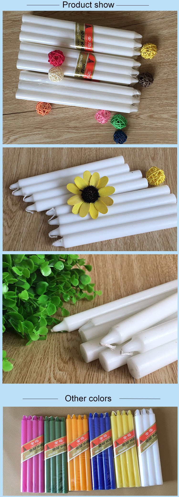 Polybag Fluted Candle