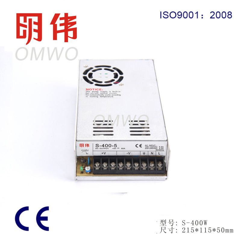 Wxe-400s-5 Factory Directly Single Output Ce RoHS Switching Power Supply