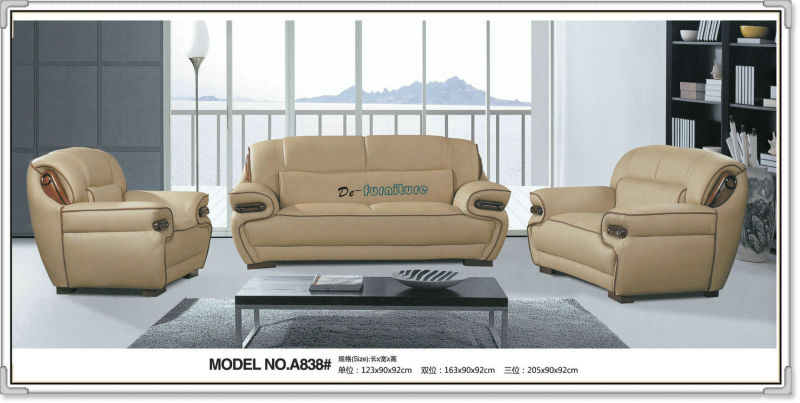 Top Grain Genuine Italian Leather Sofa (A838)