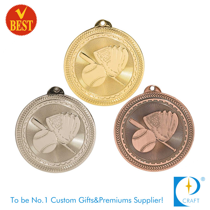 High Quality Cheap Metal Pressure Stamping 2D Baseball Medal Series Product