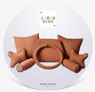 Car Back Support Pillow Lumbar Cushion Ice Silk
