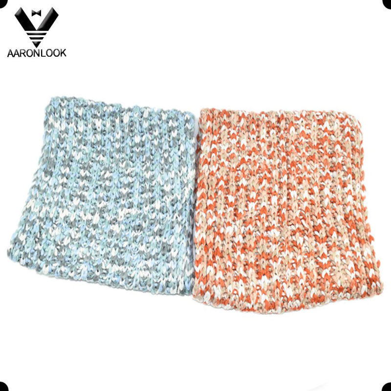Trendy Women Multicolor Space Dyed Knitted Scarf Loop