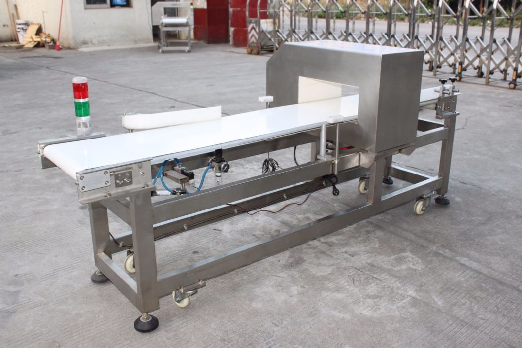 Food Conveyor Metal Detector Machine with Push Rod Elimination