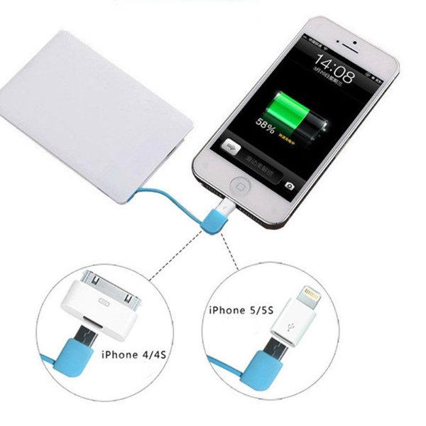 Super Slim Credit Card Portable Power Bank 2500mAh
