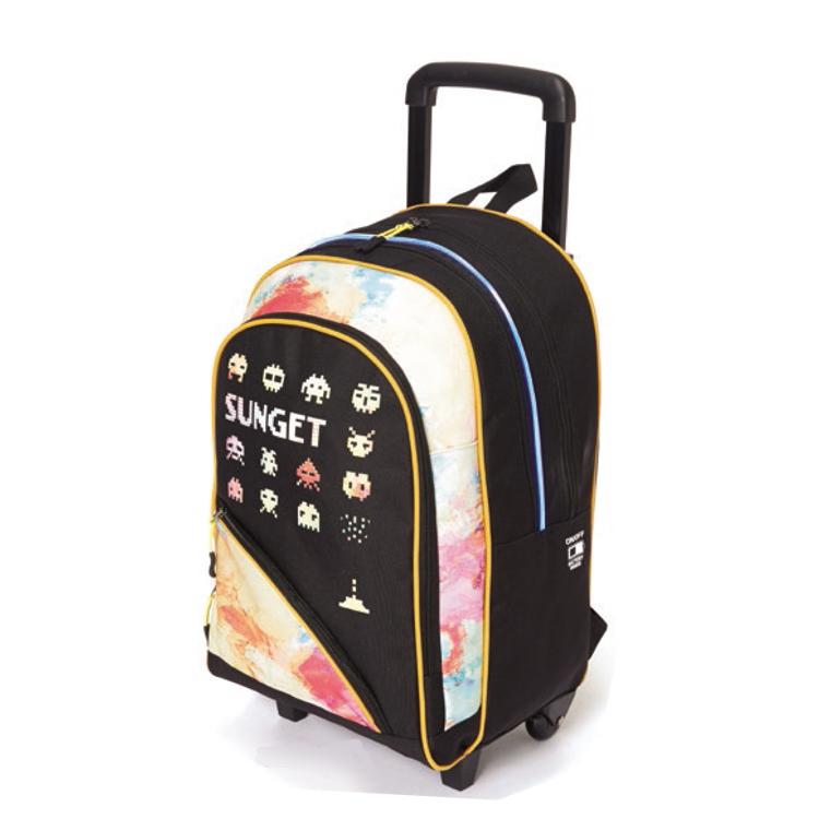 Wholesale LED New Design Child Kids Trolley School Bag