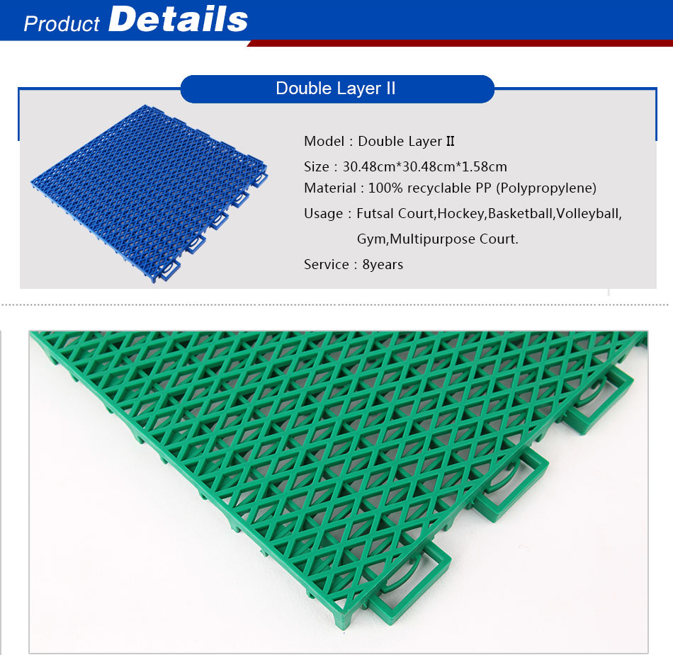 Suspended Interlocking Tiles
