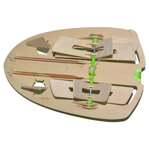 Wooden Construction Set Boat