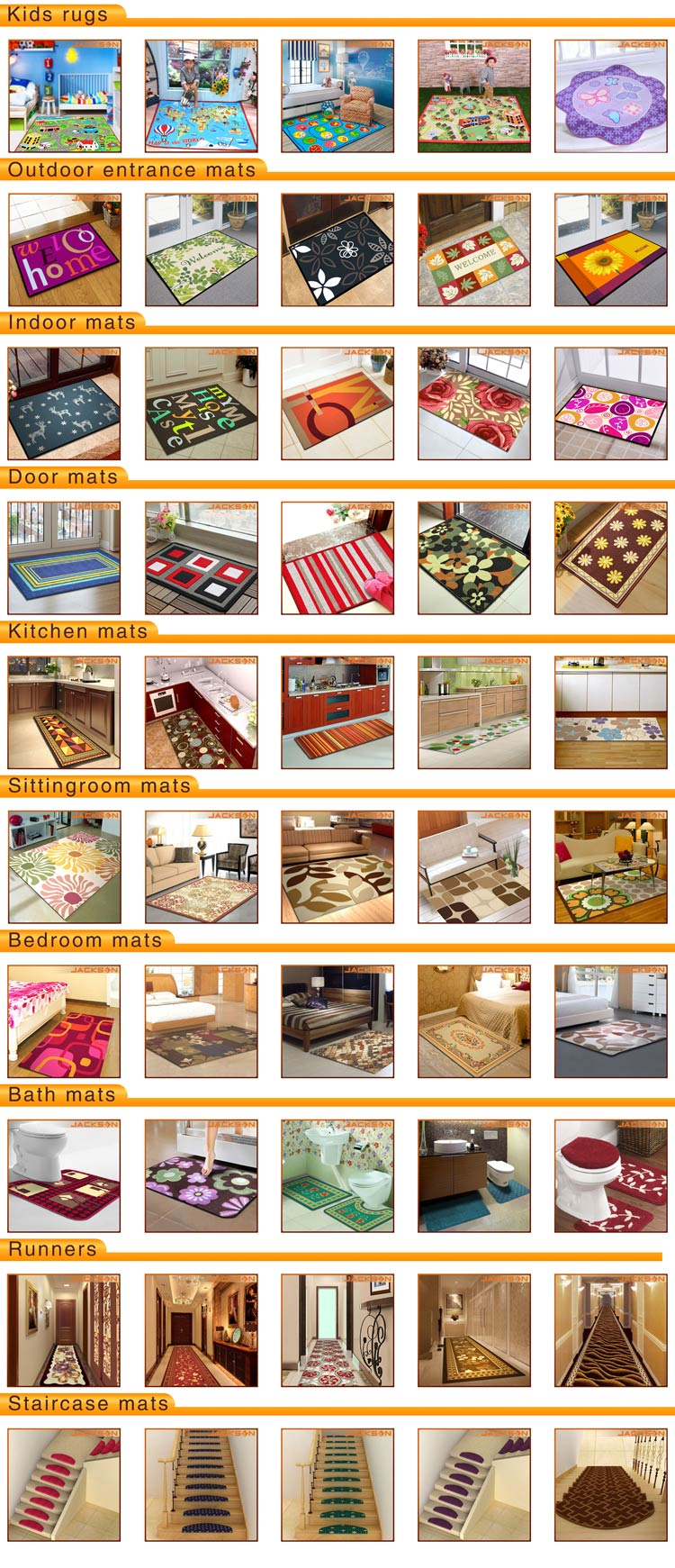 Dust Control Kitchen Mat Flooring Carpet
