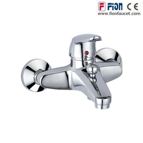 Promotion Double Holes Bathtub Faucet Adjustable Wall-Mount Bath Faucet (F-8301)