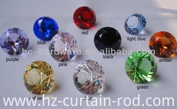 Curtains Ideas curtain rod crystal finials : China 60mm crystal curtain finial ,round crystal curtain rod ...