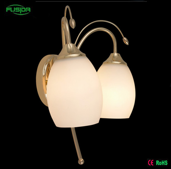 European Style Glass Wall Lamp/Wall Sconce for Decoration (8103/2W)