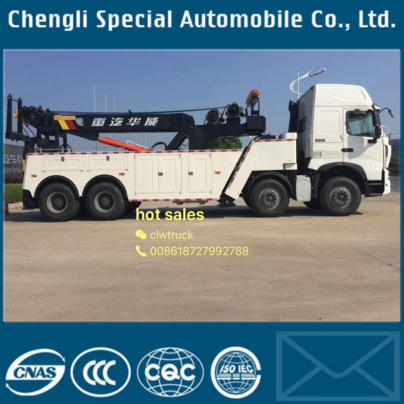 Sinotruck 6X4 Left Hand Drive 30tons Heavy Wrecker Towing Truck