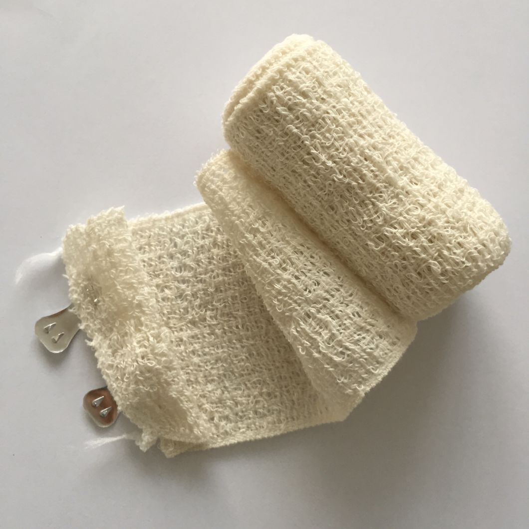 Natural Color Medical Cotton Spandex Crepe Elastic Bandage
