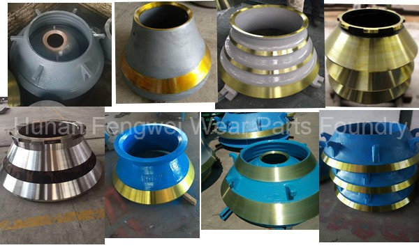 Hot Sale OEM Metso Cone Crusher Parts Concave and Mantle