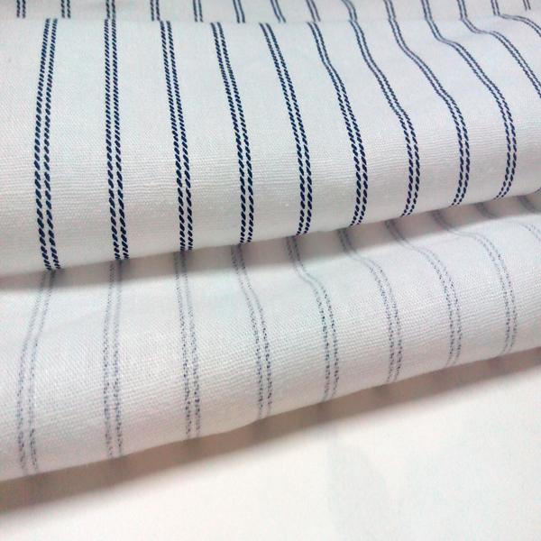 Linen Viscose Stripes Printed Garment/ Home Textile Fabric