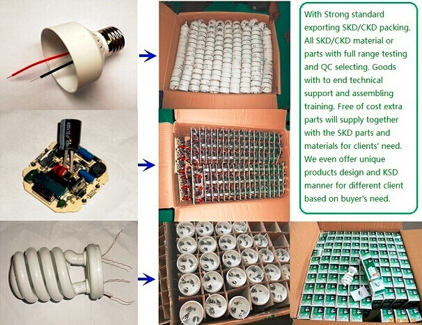 SKD CKD for Energy Saving Light 3u Lamp 7W-25W