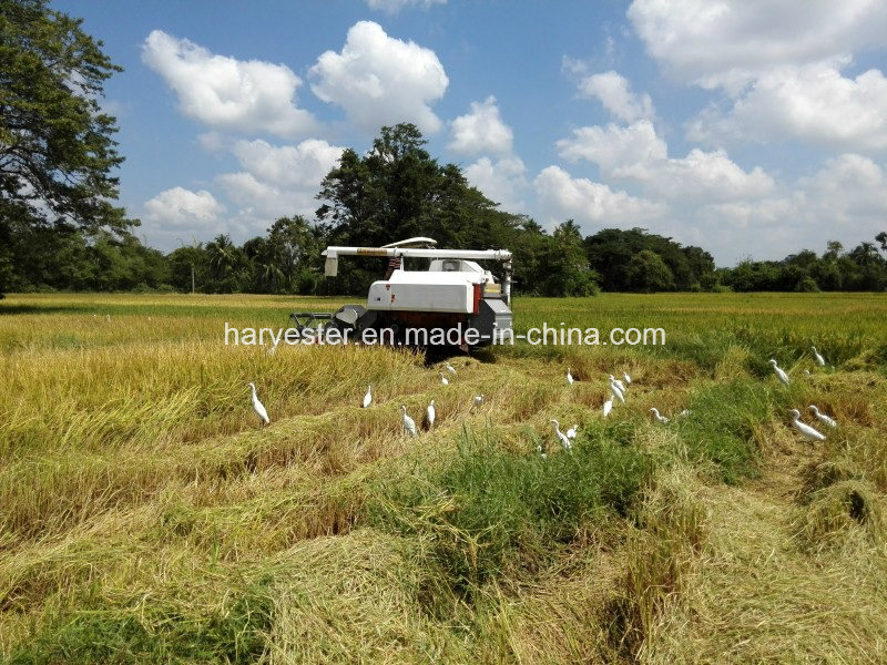 Hot Sale! Wishope 4lz-4.0z Rice Combine Harvester for Asia Market