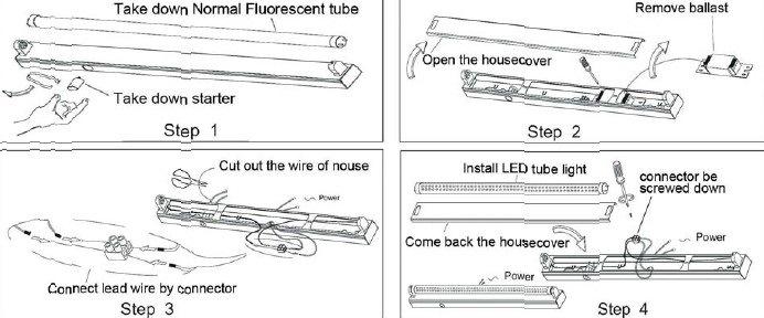 18W T8 LED Tubes/LED Fluorescent Tube Light (RB-T8-1200-A)