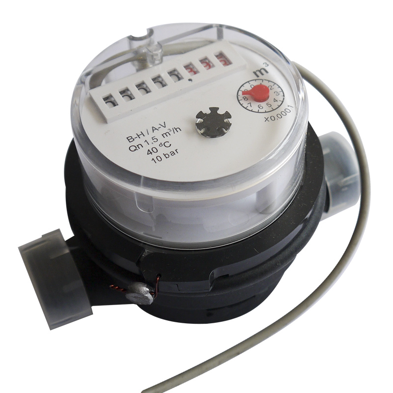 Single Jet Dry Type Plastic Body Water Meter with Pulse Output Function