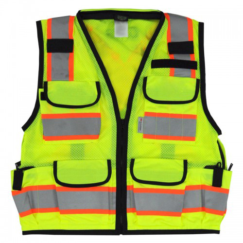 12 Pocket Style Hi Vis Reflective Tape Safety Vest
