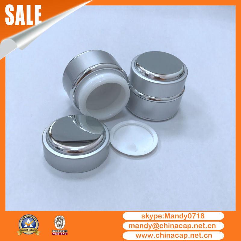 Wholesale 7g Face Cream Mockup Glass Jar with Aluminum Lid